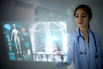 electronic medical record, patient engagement concept. medical technology.